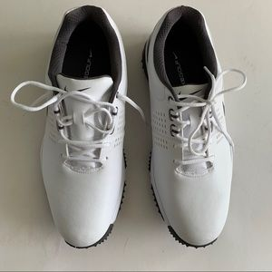 Nike Golf Shoes Men's Sz 9 White Leather New
